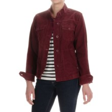 Lightweight Corduroy Jacket (For Women) in Burgandy - 2nds