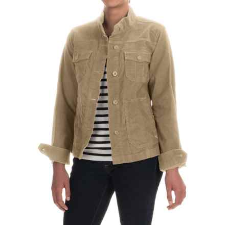 Lightweight Corduroy Jacket (For Women) in Khaki - 2nds