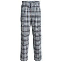 Lightweight Cotton Lounge Pants (For Men) in Grey Plaid - 2nds