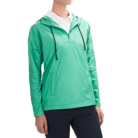 Lightweight Solid Hooded Pullover Jacket (For Women)