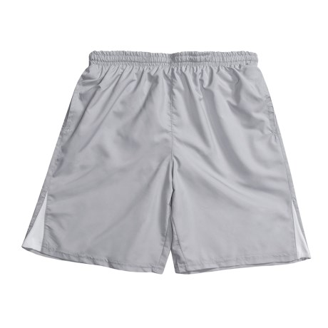 Lightweight Swim Shorts - Built-In Brief (For Men) in Grey