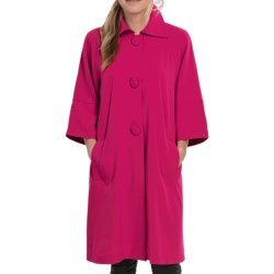 Lightweight Two-Way Stretch Jacket - 3/4 Sleeve (For Women) in Currant