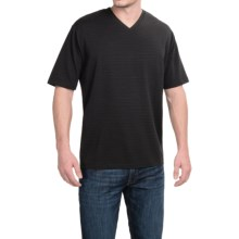 Lightweight V-Neck T-Shirt - Short Sleeve (For Men) in Black - 2nds