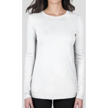Lilla P Basics X-Long Shirt - Pima Cotton, Long Sleeve (For Women) in White - Closeouts