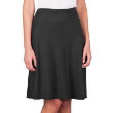 Lilla P Bias Panel Skirt - Pima Cotton-Modal (For Women) in Black - Closeouts