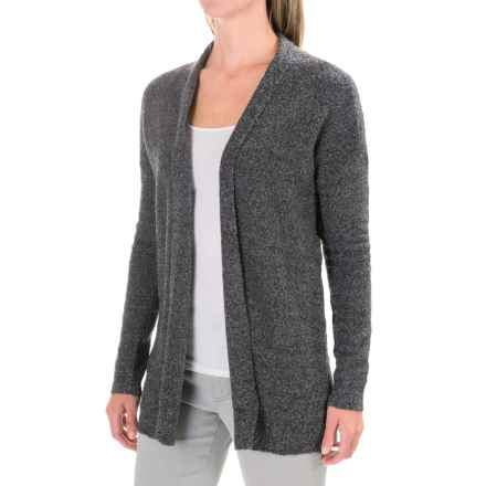 Lilla P Boucle Cardigan Sweater - Open Front (For Women) in Grey Boucle - Closeouts