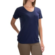 Lilla P Boyfriend T-Shirt - Pima Cotton, Short Sleeve (For Women) in Peacoat - Overstock