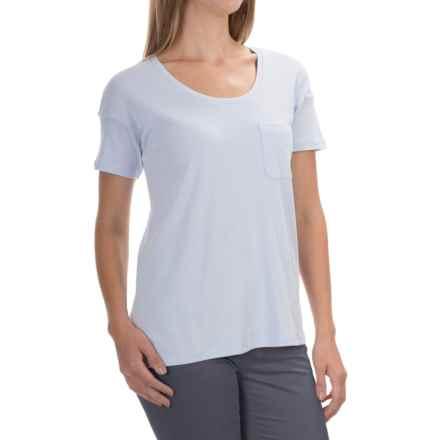 Lilla P Boyfriend T-Shirt - Pima Cotton, Short Sleeve (For Women) in Seabreeze - Overstock