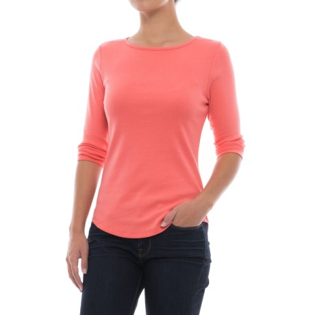 Lilla P Classic Boat Neck Shirt - 3/4 Sleeve (For Women)