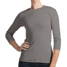 Lilla P Classic Combed Cotton Shirt - 3/4 Sleeve (For Women) in Dove - Closeouts