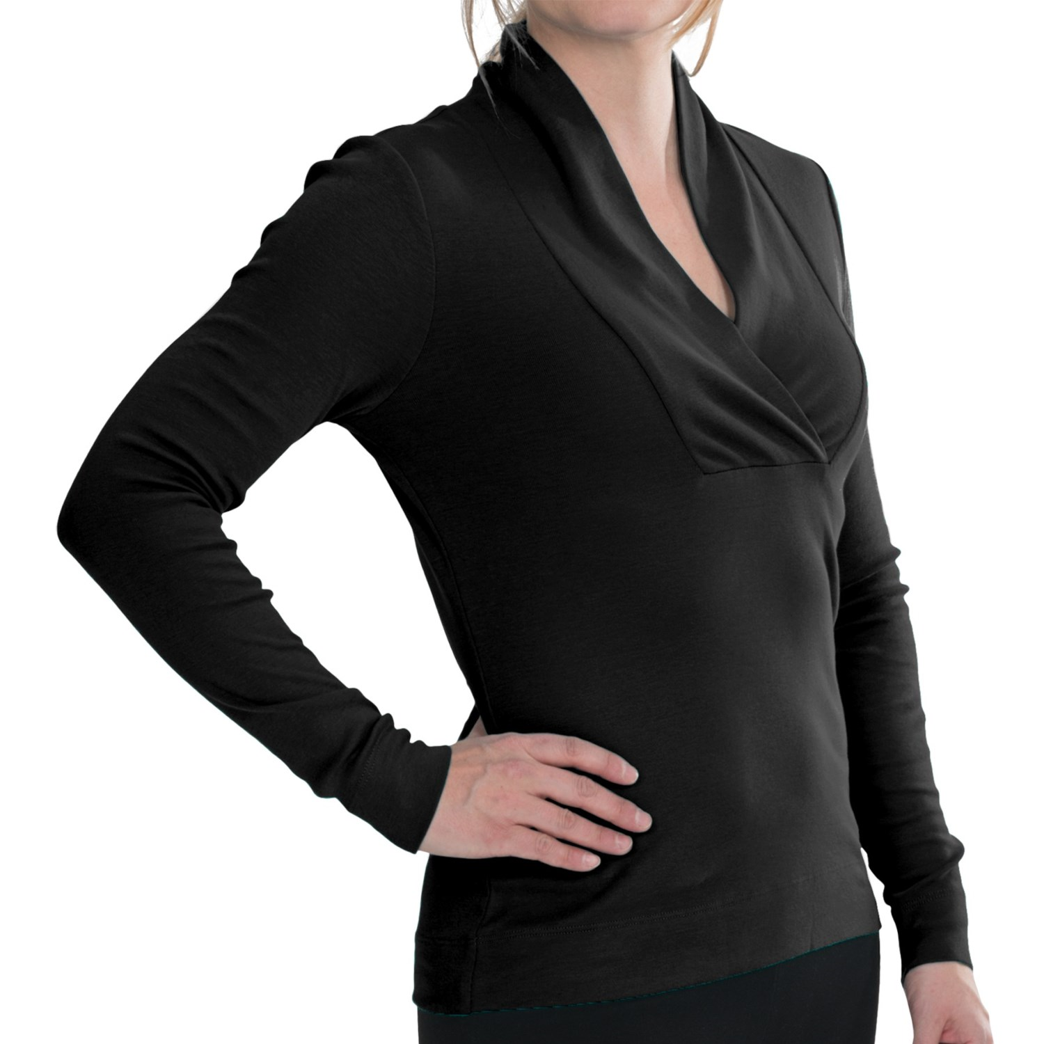 lilla p classic shawl collar shirt long sleeve for women