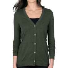Lilla P Cotton-Cashmere Cardigan Sweater (For Women) in Alpine - Closeouts