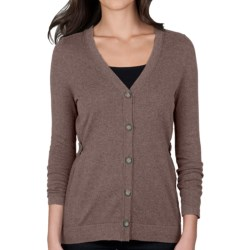 Lilla P Cotton-Cashmere Cardigan Sweater (For Women) in Mink