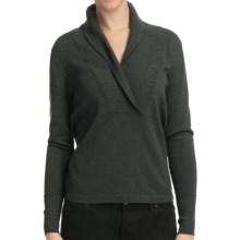 Lilla P Cotton-Cashmere Shawl Collar Sweater (For Women) in Alpine - Closeouts