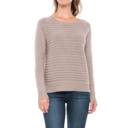 Lilla P Cotton Ribbed Sweater (For Women) in Maple - Closeouts