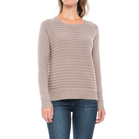 Lilla P Cotton Ribbed Sweater (For Women) in Maple