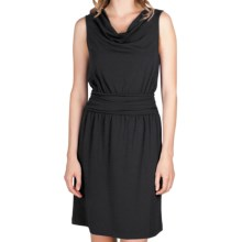 Lilla P Cowl Neck Dress - Stretch Pima Cotton-Modal, Sleeveless (For Women) in Black - Closeouts
