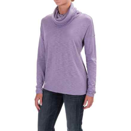 Lilla P Cowl-Neck Shirt - Pima Cotton/Modal, Long Sleeve (For Women) in Wisteria - Closeouts