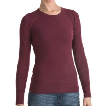 Lilla P Crew Neck Sweater - Cotton-Cashmere (For Women) in Bordeaux - Closeouts