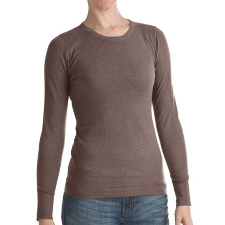 Lilla P Crew Neck Sweater - Cotton-Cashmere (For Women) in Mink