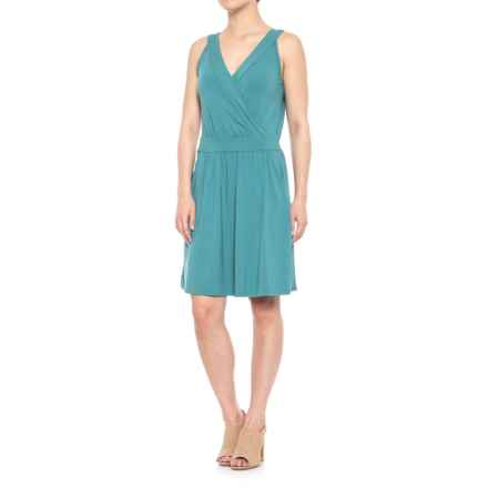 Lilla P Crossed Front Tank Dress - Sleeveless (For Women) in Enamel - Closeouts