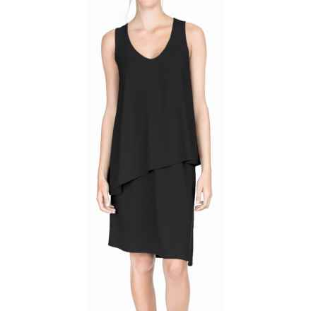 Lilla P Double Layer Tank Dress - Sleeveless (For Women) in Black - Overstock