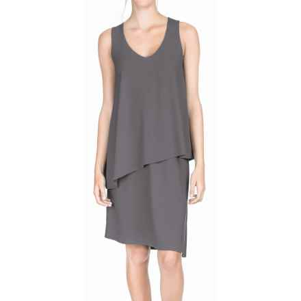 Lilla P Double Layer Tank Dress - Sleeveless (For Women) in Steel - Overstock