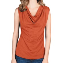 Lilla P Drape-Neck Tank Top - Pima Cotton-Modal (For Women) in Tangerine - Closeouts