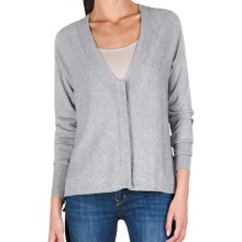 Lilla P Easy V-Neck Cardigan Sweater - Cotton-Modal (For Women) in Heather Gray - Closeouts