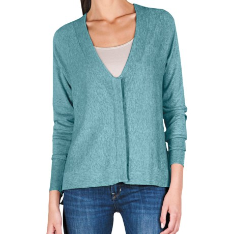Lilla P Easy V-Neck Cardigan Sweater - Cotton-Modal (For Women) in Newport