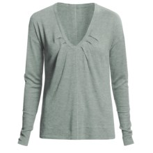 Lilla P Easy V-Neck Sweater - Long Sleeve (For Women) in Haze - Closeouts