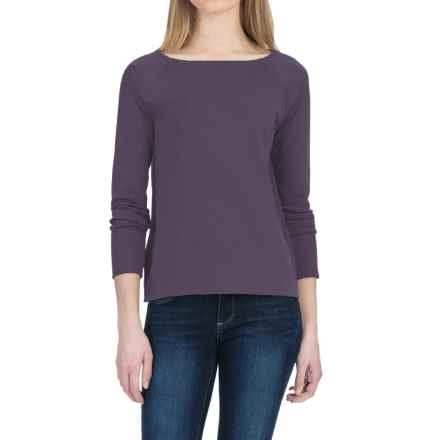 Lilla P Fine Rib Boat Neck Shirt - Pima Cotton, Long Sleeve (For Women) in Nightshade - Closeouts