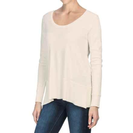 Lilla P Fine Rib Swing Shirt - Pima Cotton, Long Sleeve (For Women) in Antique White - Closeouts