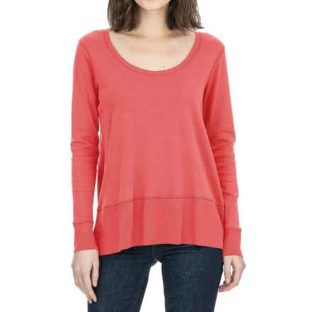 Lilla P Fine Rib Swing Shirt - Pima Cotton, Long Sleeve (For Women) in Ginger - Closeouts