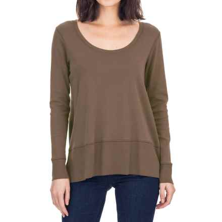 Lilla P Fine Rib Swing Shirt - Pima Cotton, Long Sleeve (For Women) in Thyme - Closeouts