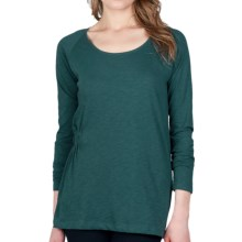 Lilla P Flame Elastic-Waist Tunic Shirt - Pima Cotton, Long Sleeve (For Women) in Wintergreen - Closeouts