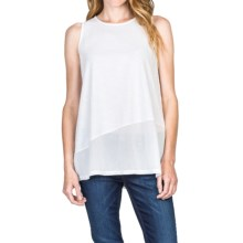 Lilla P Flame Flared Tank Top - Voile Cotton (For Women) in White - Closeouts