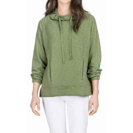 Lilla P Flame French Terry Pullover Shirt - Long Sleeve (For Women) in Cactus - Overstock
