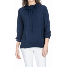 Lilla P Flame French Terry Pullover Shirt - Long Sleeve (For Women) in New Navy - Overstock