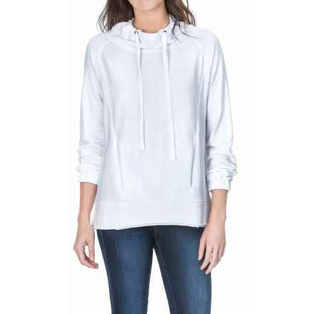 Lilla P Flame French Terry Pullover Shirt - Long Sleeve (For Women) in White - Overstock