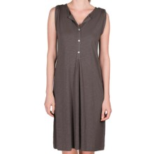 Lilla P Flame Henley Dress - Pima Cotton-Modal, Tab Shoulder (For Women) in Pewter - Closeouts