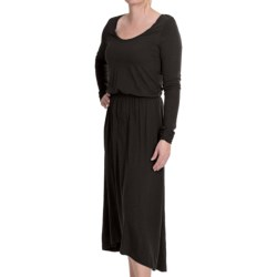 Lilla P Flame Pima-Modal Dress - Long Sleeve (For Women) in Wintergreen