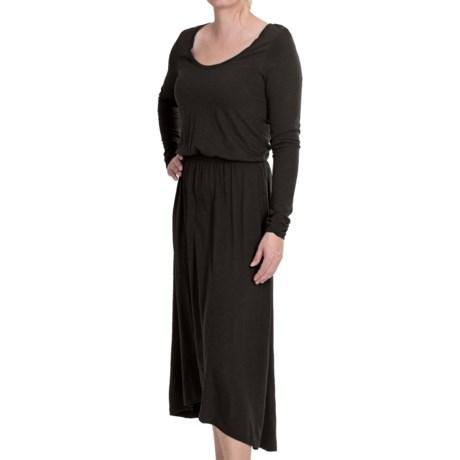 Lilla P Flame Pima-Modal Dress - Long Sleeve (For Women) in Steel