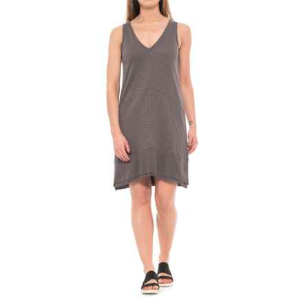 Lilla P Flame Ribbed Bottom Dress - Sleeveless (For Women) in Earth - Closeouts