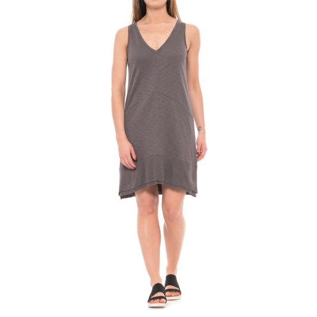 Lilla P Flame Ribbed Bottom Dress - Sleeveless (For Women) in Earth