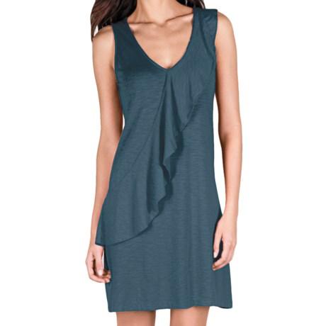 Lilla P Flame Ruffle Dress - Pima Cotton-Modal, Sleeveless (For Women) in Ink