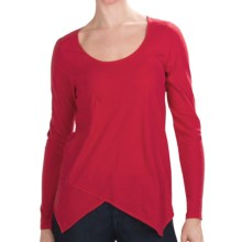 Lilla P Flame Scoop Neck Shirt - Pima Cotton, Long Sleeve (For Women) in Holly - Closeouts