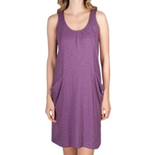 Lilla P Flame Seamed Pocket Shift Dress - Slub Cotton-Modal (For Women) in Jam - Closeouts