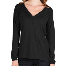 Lilla P Flame Shirt - Pima Cotton-Modal, Long Sleeve (For Women) in Black - Closeouts