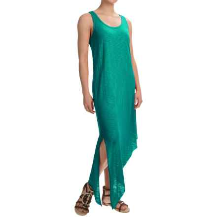 Lilla P Flame Side-Slit Tank Dress - Pima Cotton-Modal, Sleeveless (For Women) in Lagoon - Overstock